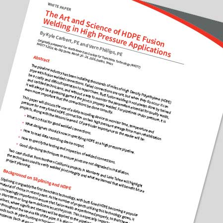 The Art and Science of HDPE Fusion Welding in High Pressure Applications