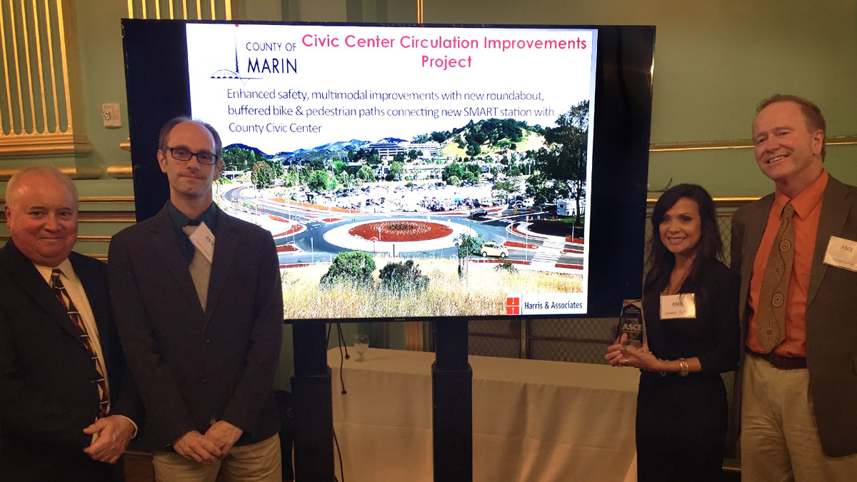 Marin County Civic Center Drive Circulation Improvements Project Earns ASCE San Francisco Section Award
