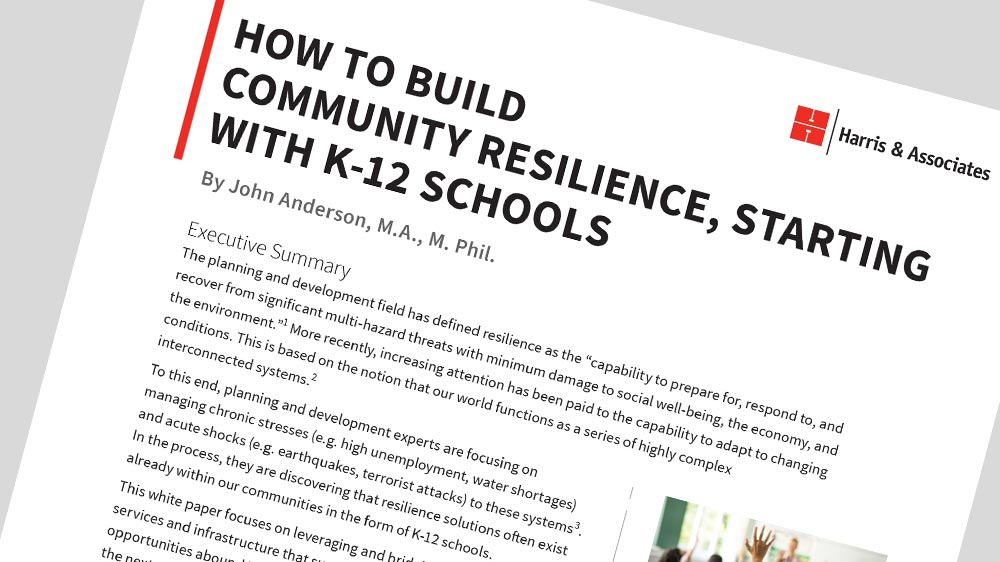 How to Build Community Resilience, Starting with K-12 Schools