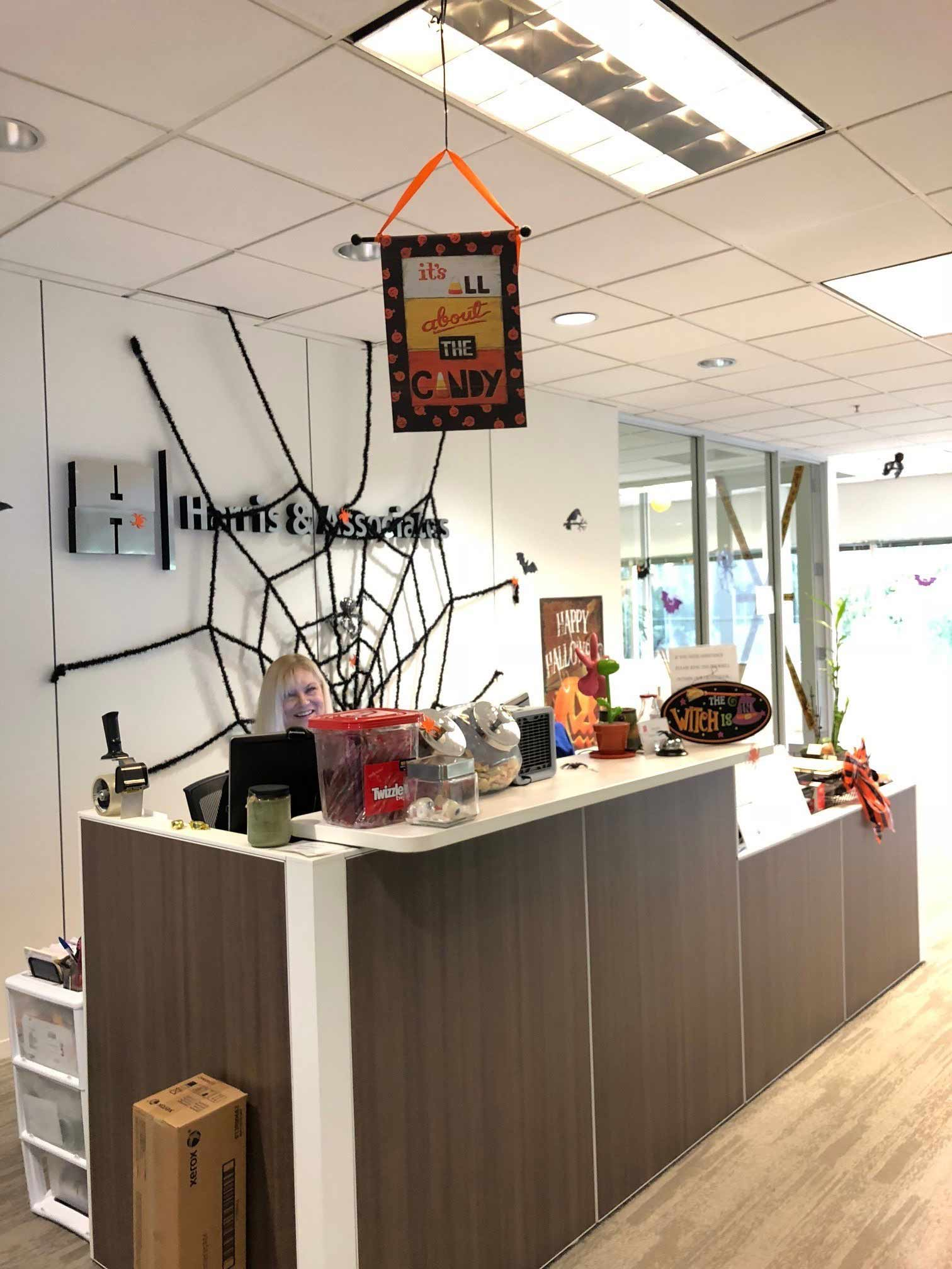 Our employee owners get into different holidays and events with office decorations.