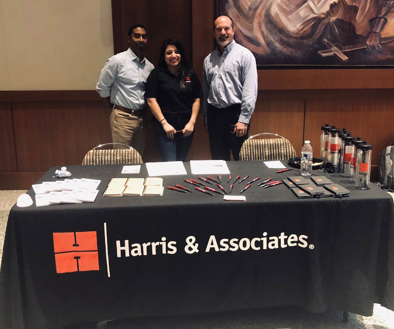 Harris professionals participating in job fairs for the next generation.
