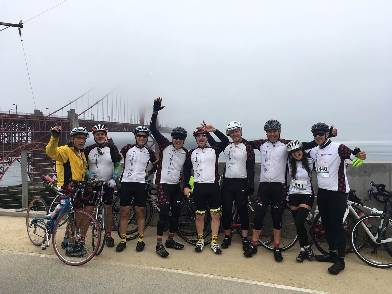 Harris' cycling team riding to end MS in San Francisco.