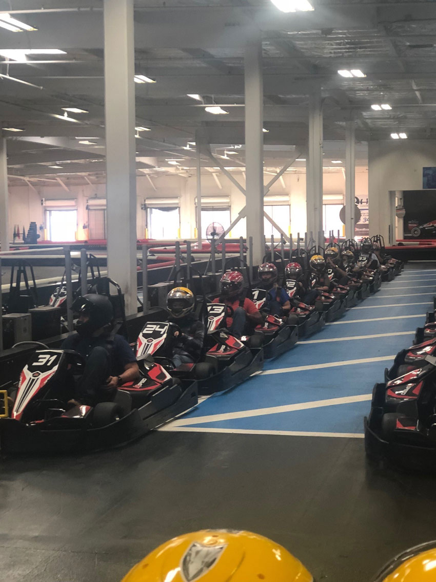 Employee event to see who is the fastest racer of them all.