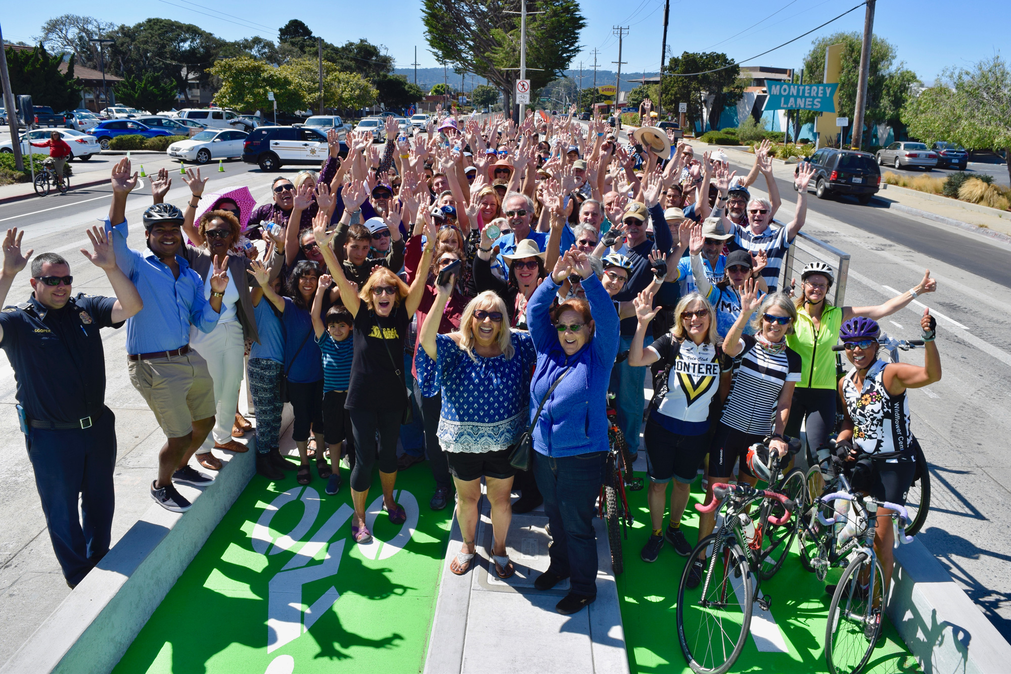 The City of Monterey Unveils New Protected Bicycle Lanes