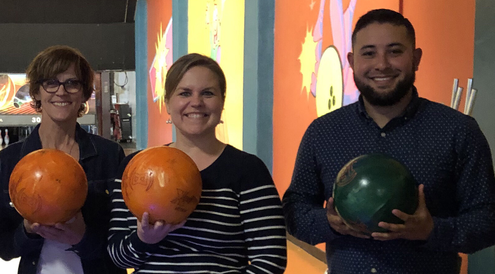 Employee event to see who is the best bowler